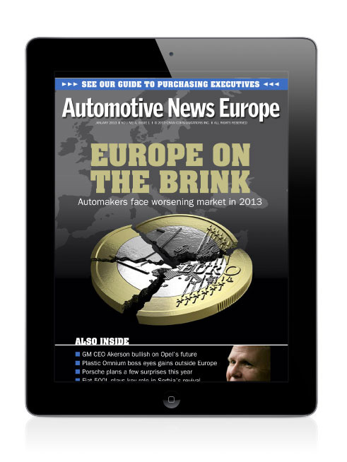 Automotive News Europe on iPad