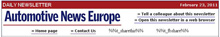 Automotive News Europe Daily News