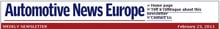 Automotive News Europe Weekly News